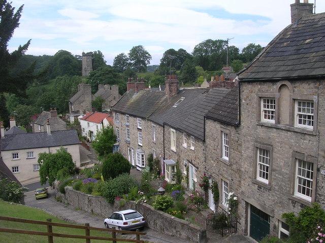 Cornforth Hill from Castle Walk Richmond