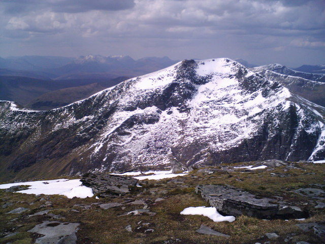 Sgurr Mor Summit, looking WSW.