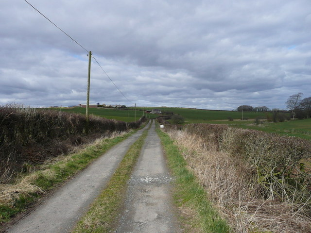 The road to Drumdown farm