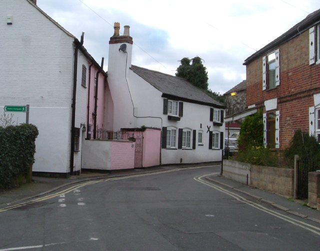 Old cottages in Park Lane, Littleover