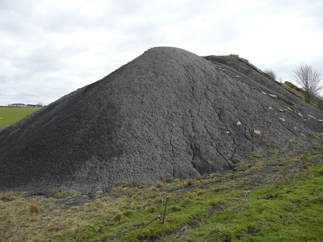 The old bing Drumdow Colliery