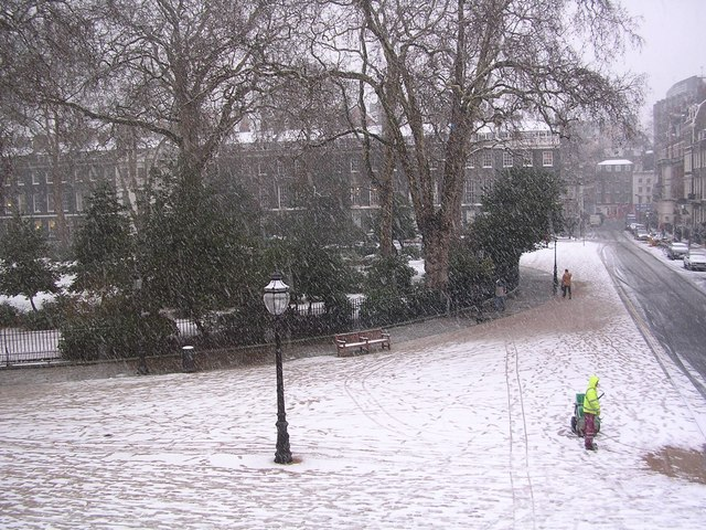 Snow in Bedford Square