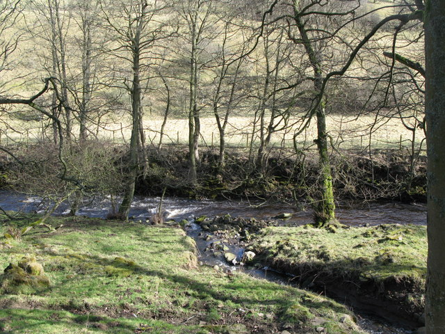 The confluence of Smail's Burn and Rookhope Burn