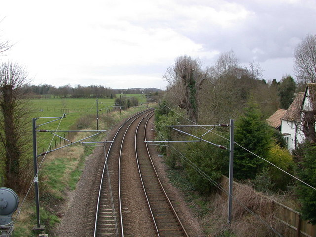 Kings Cross railway line at Great Shelford