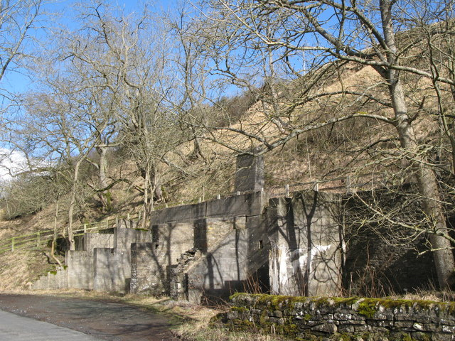 Remains of mine loading bays