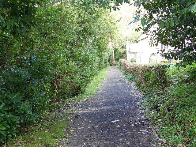 Path to St John the Baptist Church, East Down