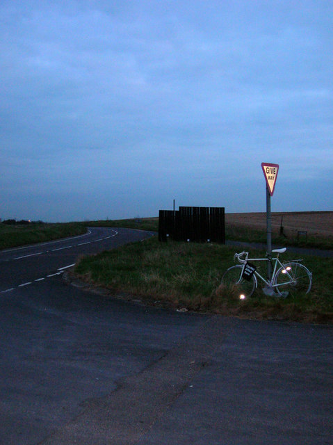 Ghost Bike, Devils Dyke Road