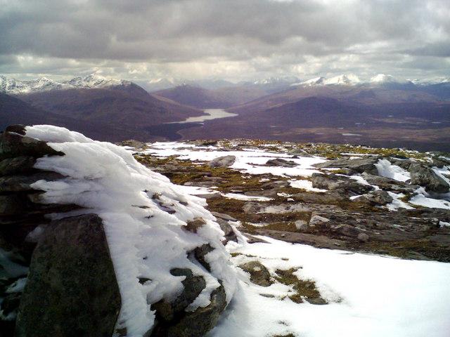 Beinn Enaiglair summit, looking SW