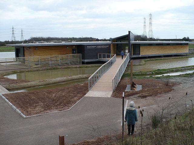 Entrance to Newport Wetlands Visitor Centre