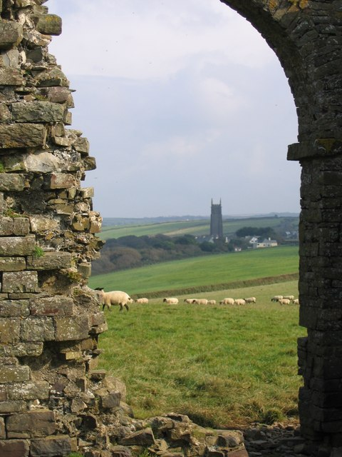 View to Hartland via ruined tower