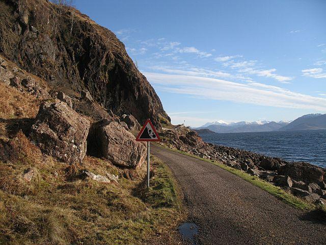 Coastal road, Kingairloch