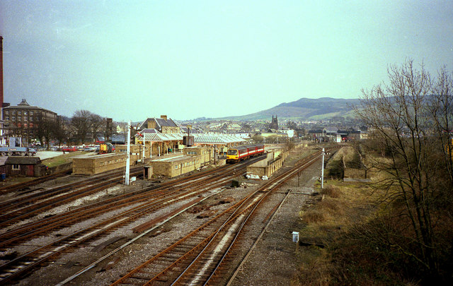 Skipton station before electrification