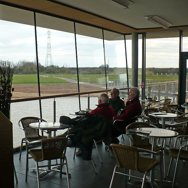 Enjoying the view from the visitor centre