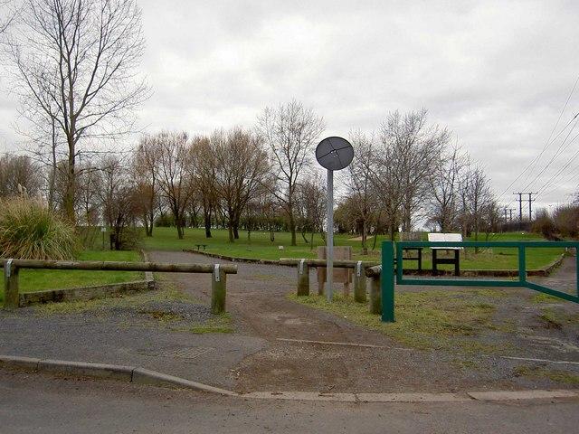 Golf course crossing on Grange Lane