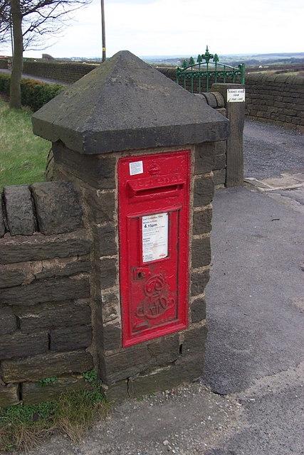 Post Box at Linfit Lane Top