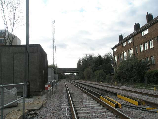 Looking towards Portchester from Cosham Railway Station