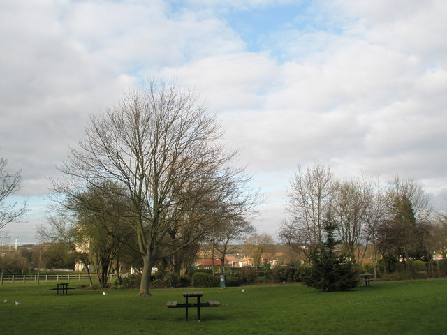 Picnic bench in Cosham Park