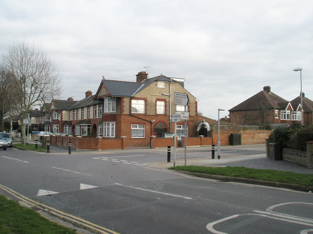 Junction of Highbury Way and The Old Road