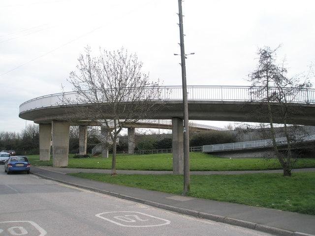 Bridge to Hilsea from Tudor Crescent