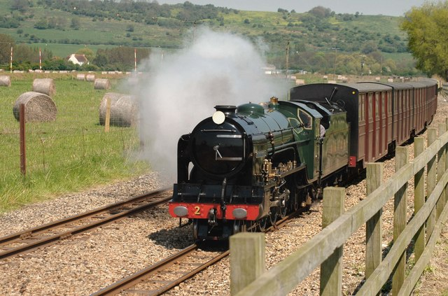 The Romney, Hythe & Dymchurch Railway at Botolph's Bridge Road, Nr. Hythe, Kent