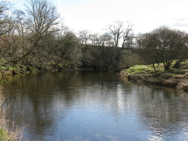 The Kinnel Water, heading south towards the River Annan.