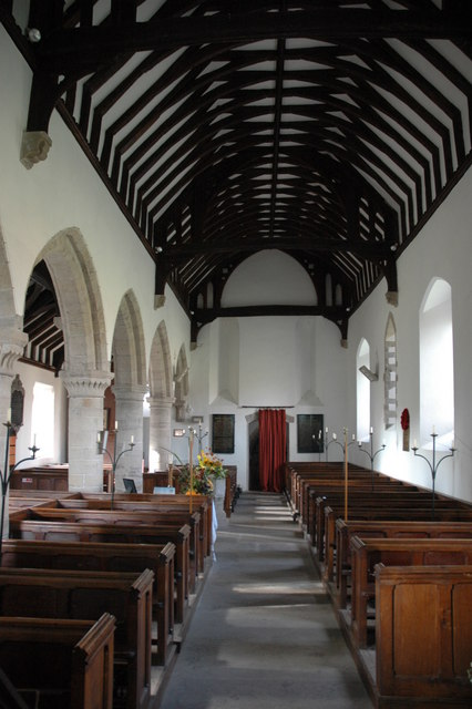The interior of Byford Church
