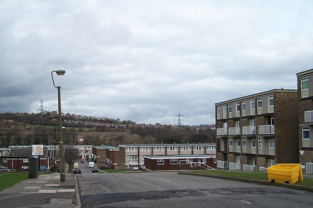 Winn Gardens Estate looking towards the River Don