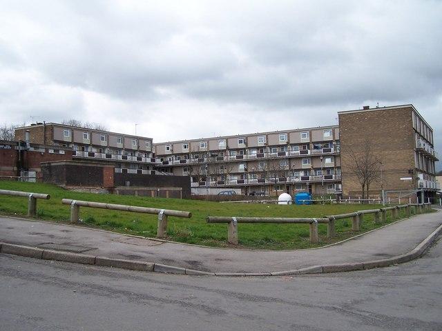 Rear view of Winn Grove, from Winn Gardens