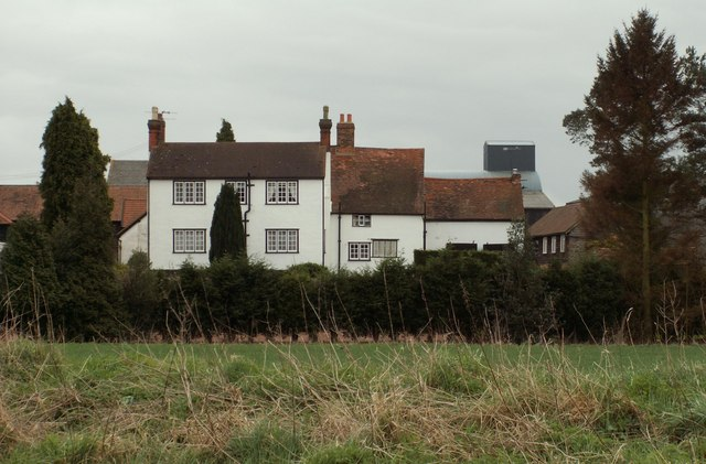 A view of Nash Hall Farm from The Street at High Ongar