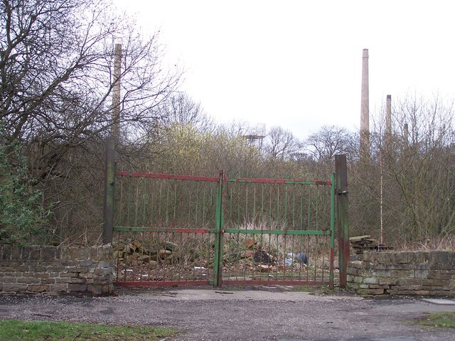 Industrial Gates on Middlewood Road North, near Middlewood Park