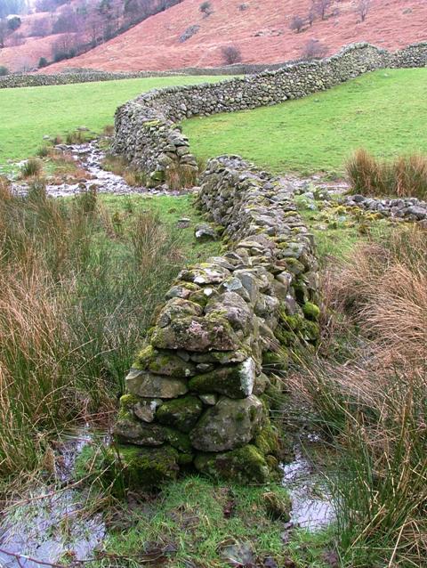 Stone Wall, Near Stonethwaite Beck
