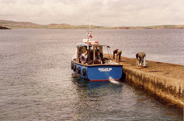 MV Solan III, Leebotten pier, Sandwick