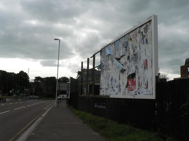 Bournemouth: dilapidated advert hoarding
