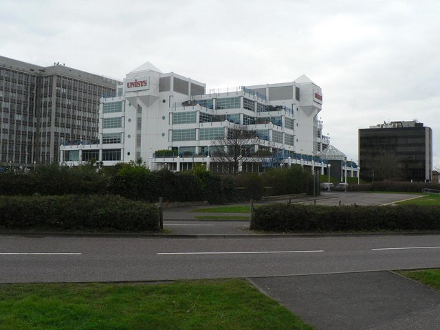 Bournemouth: Unisys building from the east