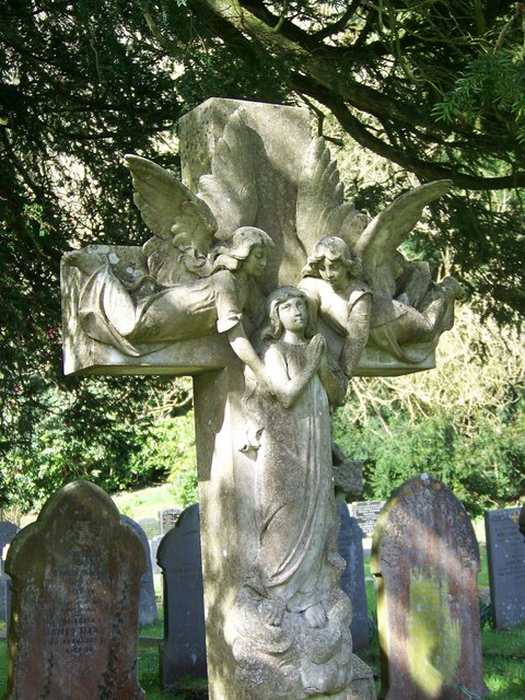 Gravestone at St John the Baptist Church, East Down