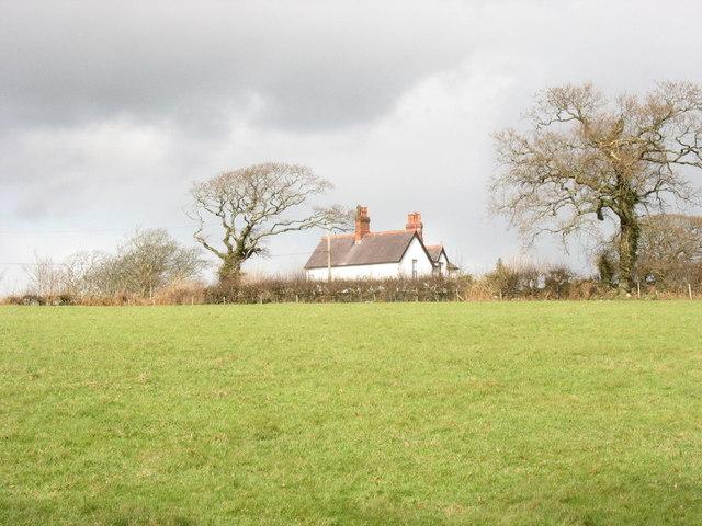Min Awel viewed across a field
