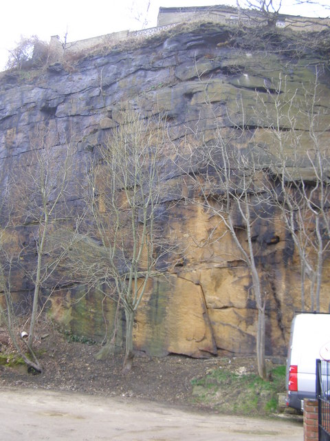 Cliff-face, close to New Mill Road, Brockholes
