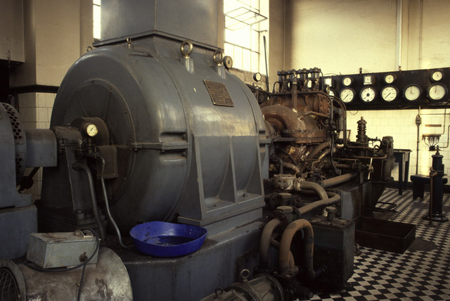 Steam turbine, Brinton's, Kidderminster
