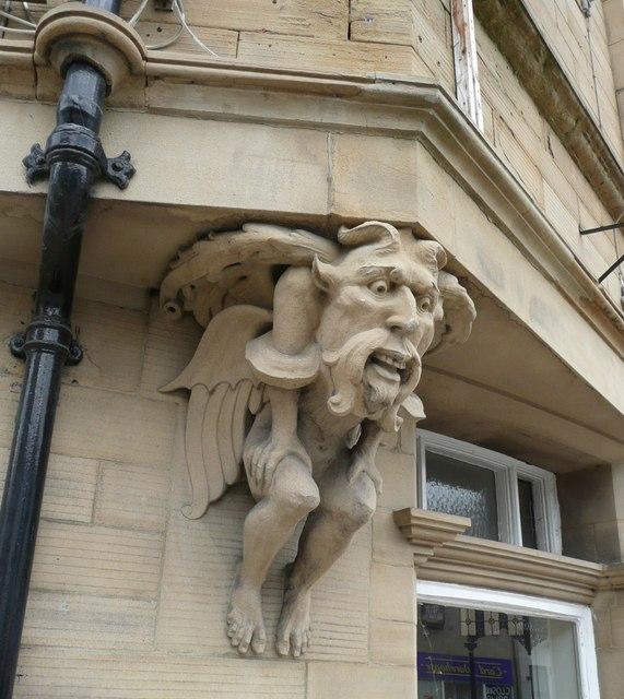 Grotesque figure, Market Place, Dewsbury