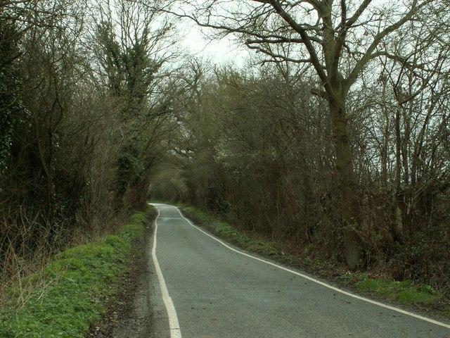 Part of Church Road heading towards Navestock Heath