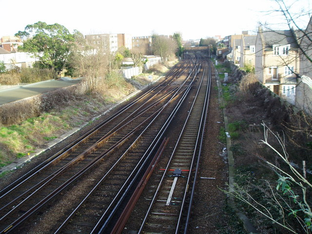 Looking east on the West Coastway line