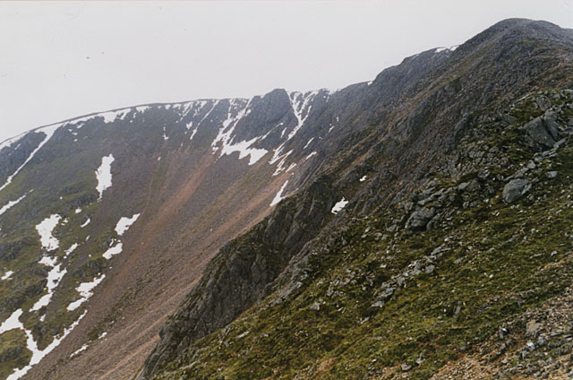 The eastern slopes of Mullach nan Coirean