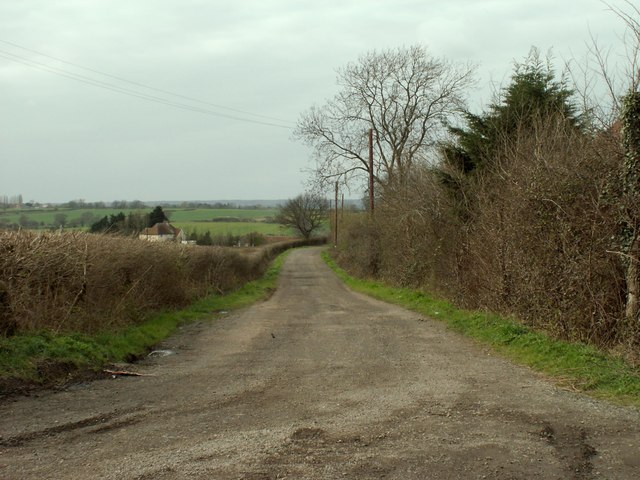 The road to Olives Farm and Tysea Hill Farm