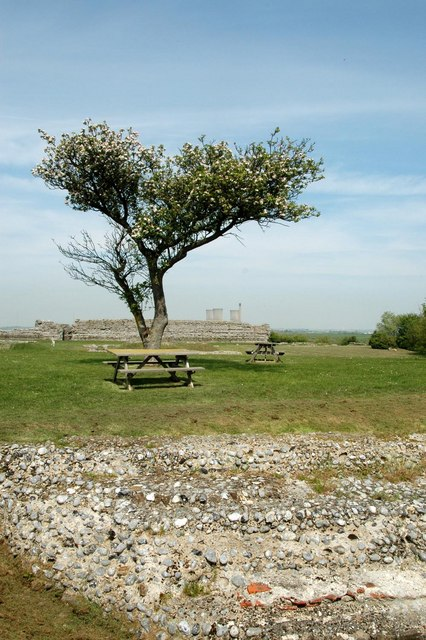 Richborough Fort from the South Wall