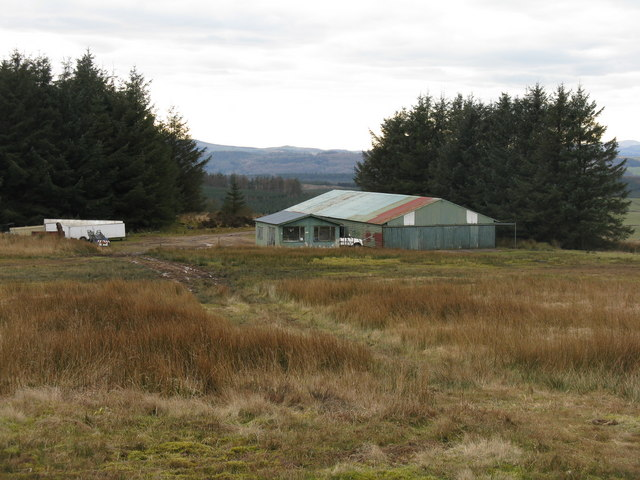 Dumfries Gliding Club hangar and clubhouse