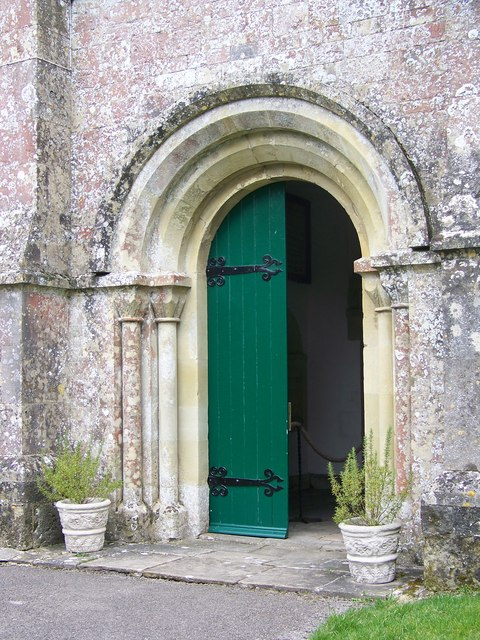 Doorway to St Peter's Church, Swallowcliffe