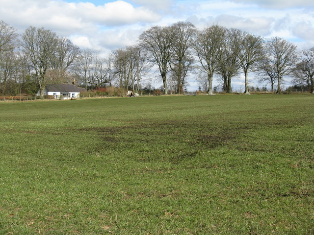 Field and cottage at Heathhall
