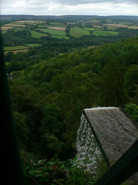 Top of Canonteign Falls