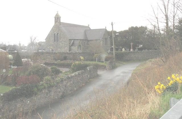 St Gwyndaf's Church from the west