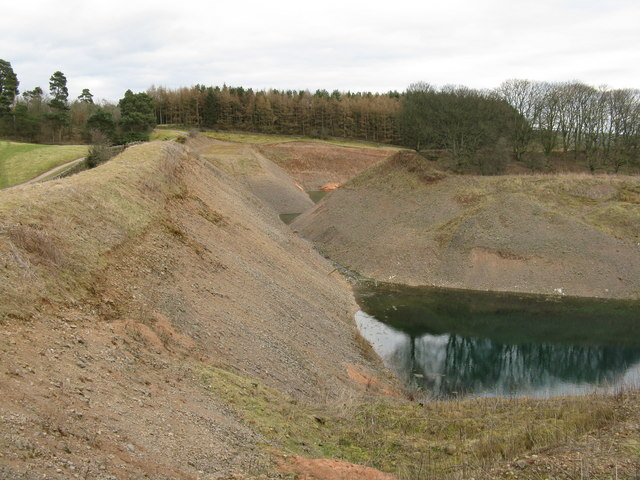 Road to Parkburn and flooded gravel pit